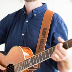 Personalised guitar strap