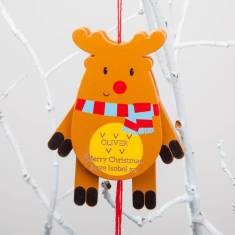 Personalised Jumping Jack Christmas Baubles