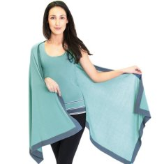 Silk Cashmere Scarf / Wrap Two Toned Sea