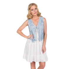 Bonni vest in sky blue