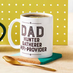 Dad Hunter, Gatherer, Wifi Provider Mug