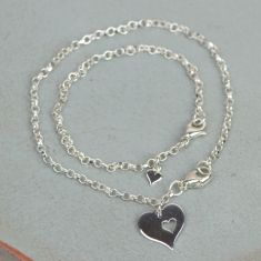 Me And My Mummy Silver Bracelet Set