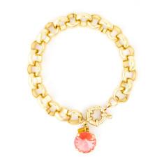 Chunky bracelet with Swarovski crystal charm