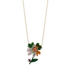 Psychedelic Mottled Imaginary Flower Necklace