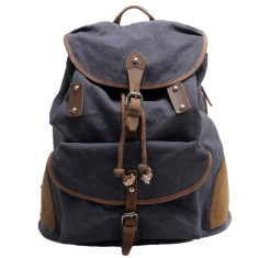 Grey canvas travel bag backpack bag