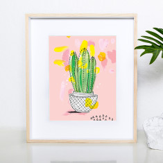 Favourite cactus archival art print