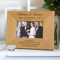 Personalised Mother And Father Of The Bride Photo Frame