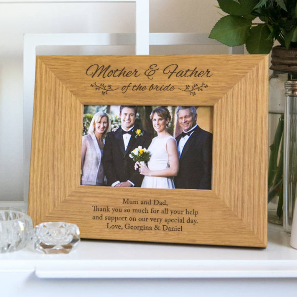 personalised mother and father of the bride photo frame hardtofind - Mother Of The Bride Picture Frame