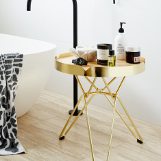 Metallic Gold Spice Side Table