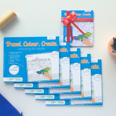 Travel colour create mouse mat bundle with bonus on the go colouring book