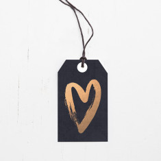 Rose gold foil hearts gift tags (set of 6)