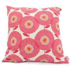 Flowerfields rosy cushion
