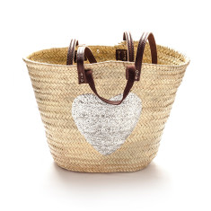 Silver heart basket