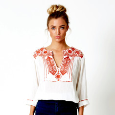 Bedouin blouse in cinnamon