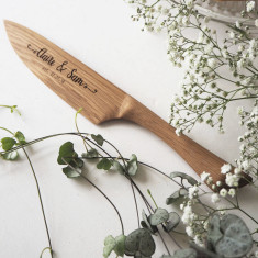 Personalised Wooden Wedding Cake Knife
