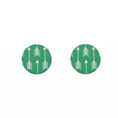Sterling silver and wood stud earrings in arrow