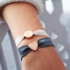 Personalised stretch bead bracelet