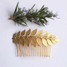 Maia gold laurel leaf haircomb