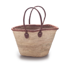 Classic palm basket with jute lining