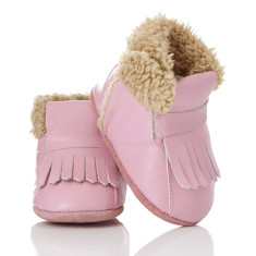 Baby soft soled booties for girls