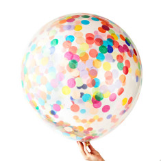 Happy Jumbo confetti balloons (pack of 2)