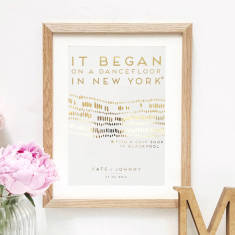 How We Met Personalised Metallic Print