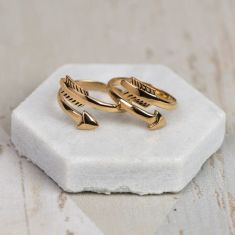 Bronze chiko arrow ring