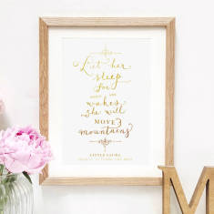 Personalised Metallic Nursery Quote