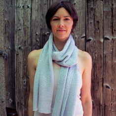 Silver lurex and merino wool wrap