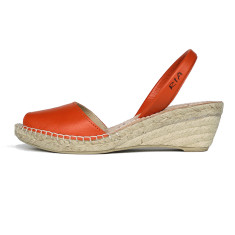Bosc leather sandals in orange