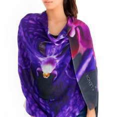 Silk Cashmere Scarf, Orchid