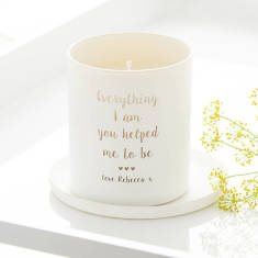 Everything I Am You Helped Me To Be Personalised Glow Through Candle