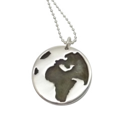 Globe sterling silver necklace