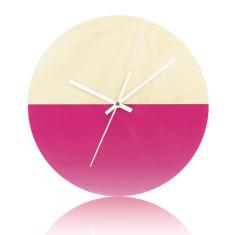 Half moon clock in magenta