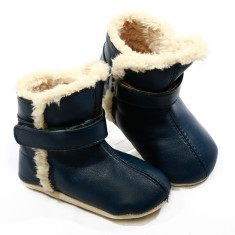 Pre-walker snug booties in navy blue