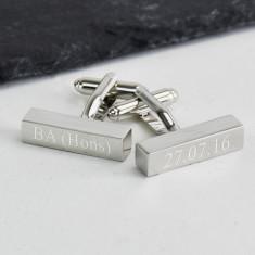Graduation Personalised Silver Bar Cufflinks