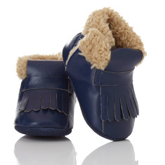 Baby soft soled booties for boys