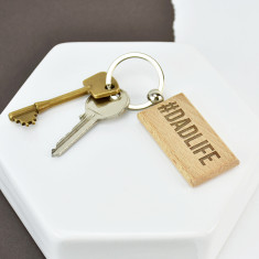 Dadlife Bamboo Wooden Key Ring