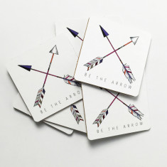 Be the arrow cross coasters (set of six)