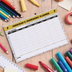 Personalised Homework Planner - Thunder