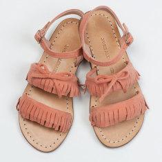 Girls Baja Fringe Sandal Coral sandal