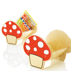 My escape mushroom bookcase