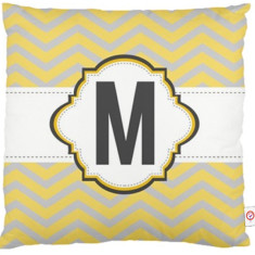 Chevron initial cushion covers (various designs)