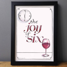 The joy of six humorous wine lovers print