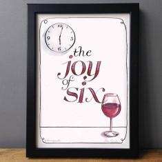The joy of six humorous wine lovers print