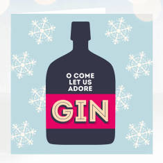 Adore gin Christmas card