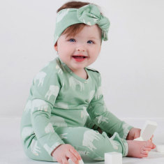 Counting sheep jade long sleeve jumpsuit