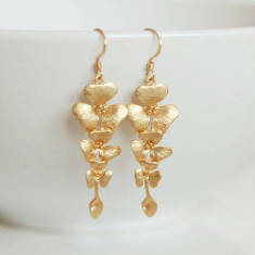 Cascading flower earrings
