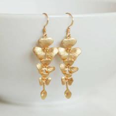 Cascading flower earrings