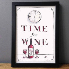 Time For Wine' Humorous Print